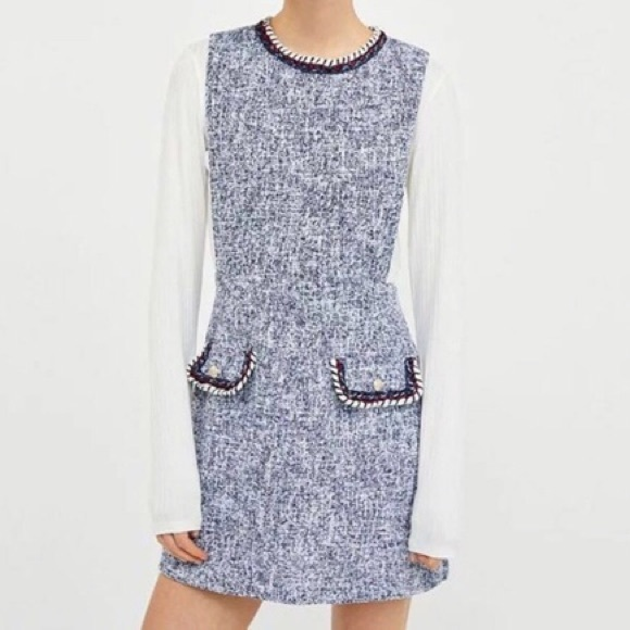 new authentic good selling look good shoes sale ZARA Tweed Pinafore Dress